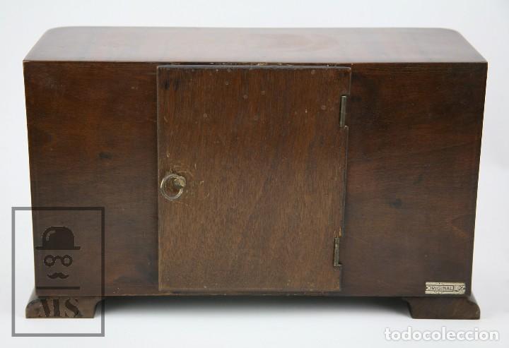 Relojes de carga manual: Antiguo Reloj Art Déco de Sobremesa - Marca Original, Caja Rectangular - Años 30-40 - Funcionando - Foto 13 - 119427855