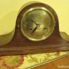 Relojes de carga manual: MAGNIFICO RELOJ SOBREMESA EN ROBLE-GUSTAV BECKER DE ALEMANIA- ESTILO NAPOLEON- AÑO 1910. Lote 119992183