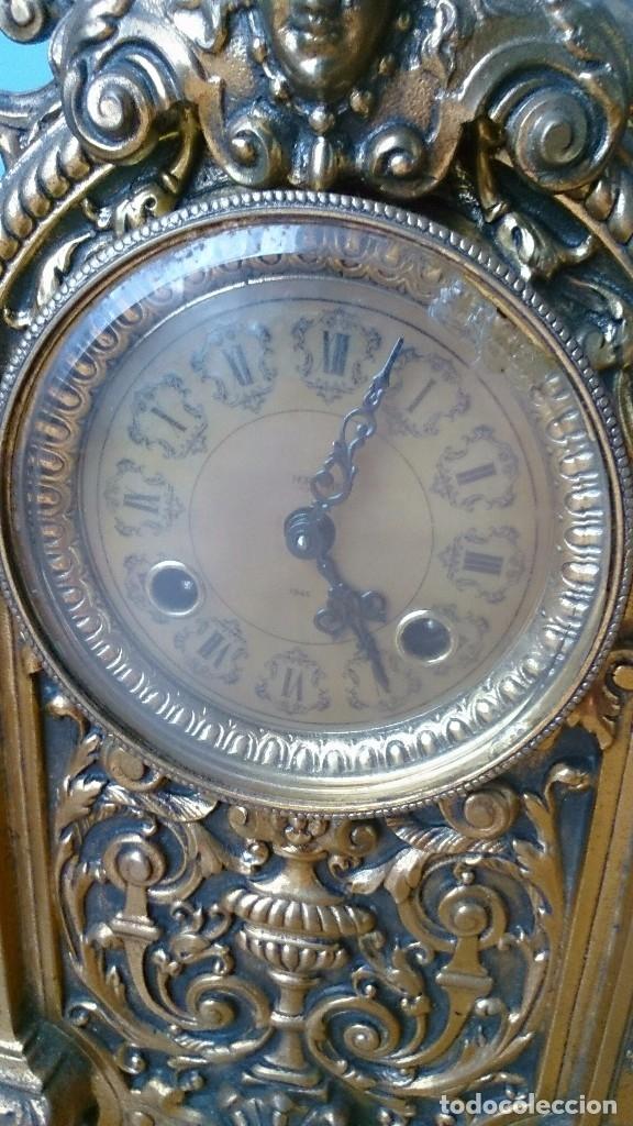 Relojes de carga manual: Reloj de sobremesa de bronce antiguo - Foto 4 - 120236123