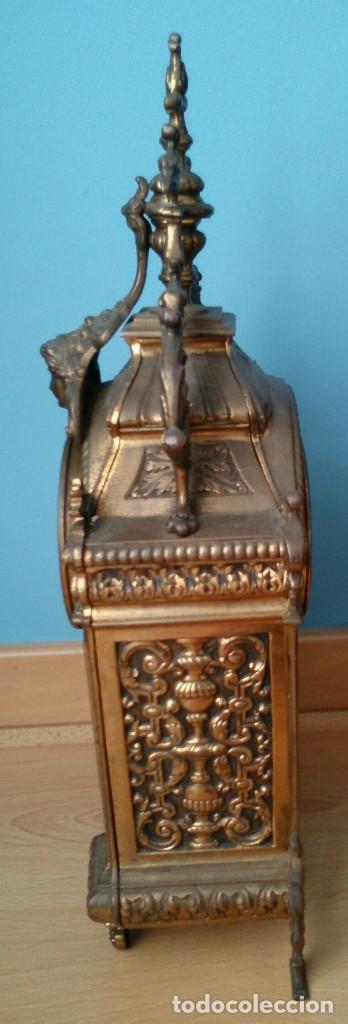 Relojes de carga manual: Reloj de sobremesa de bronce antiguo - Foto 5 - 120236123
