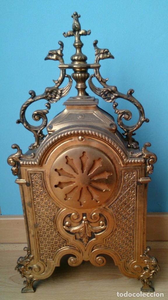 Relojes de carga manual: Reloj de sobremesa de bronce antiguo - Foto 6 - 120236123