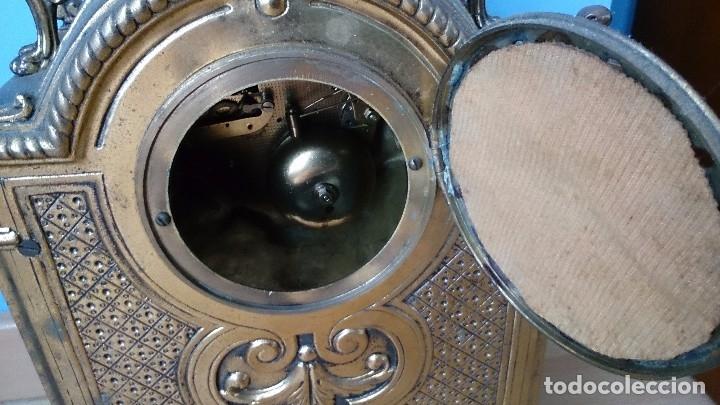 Relojes de carga manual: Reloj de sobremesa de bronce antiguo - Foto 7 - 120236123