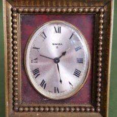 Relojes de carga manual: RELOJ DESPERTADOR DE BRONCE. SWIZA. SUIZA. SIGLO XX. . Lote 120281471