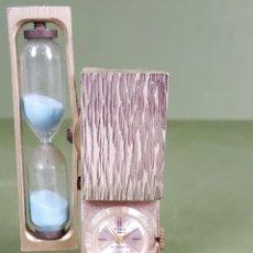 Relojes de carga manual: RELOJ DE SOBREMESA. RELOJ DE ARENA. RIVO. SUIZA. ANTIMAGNETIC. CIRCA 1970. . Lote 120282943