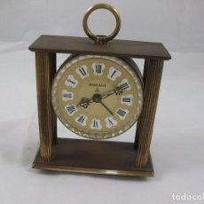 Relojes de carga manual: RELOJ DE SOBREMESA. BRONCE. FUNCIONA PERFECTAMENTE. MANUAL. ANTIGÜEDAD.. Lote 120942607
