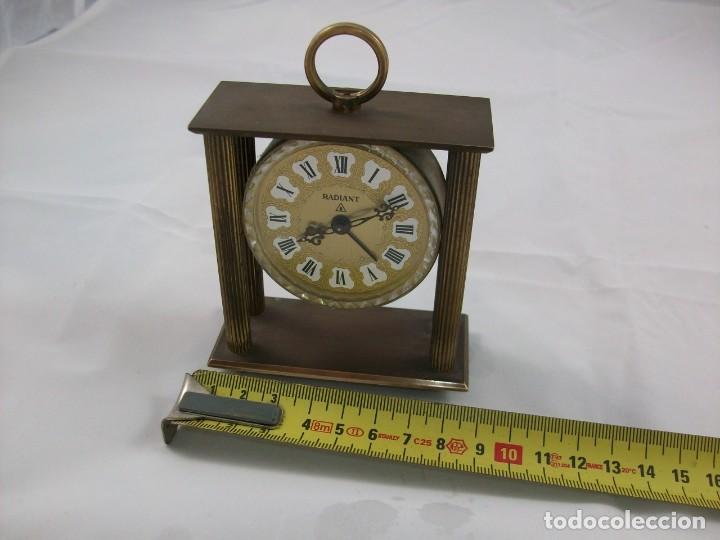 Relojes de carga manual: RELOJ DE SOBREMESA. BRONCE. FUNCIONA PERFECTAMENTE. MANUAL. ANTIGÜEDAD. - Foto 4 - 120942607