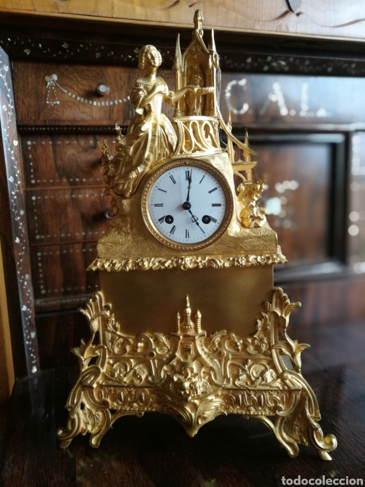 Relojes de carga manual: Reloj siglo XIX - Foto 4 - 120970734