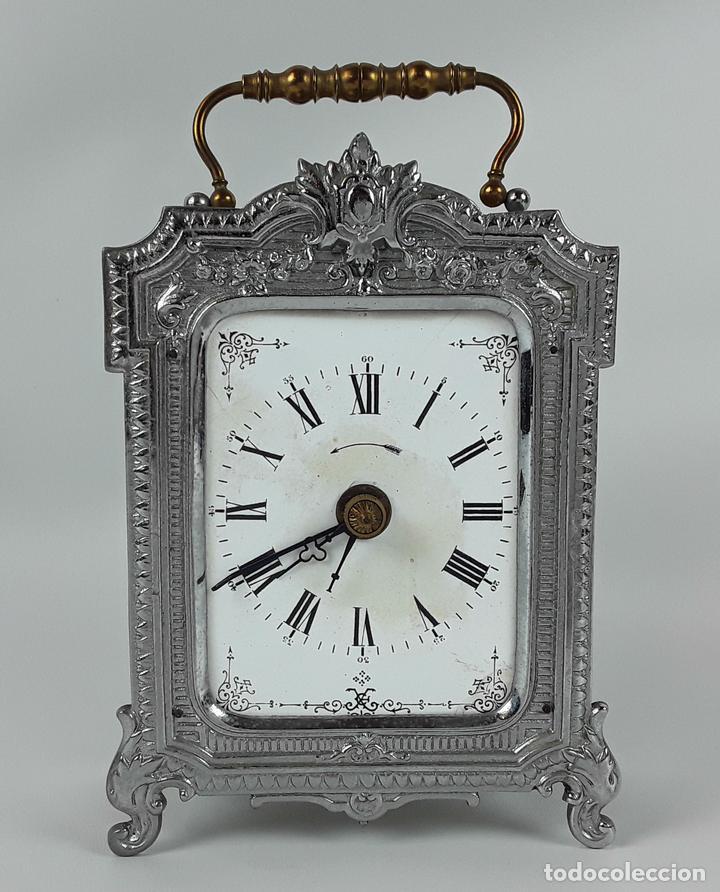 RELOJ DE MESA. LATÓN. GRAND PRIX DE L'HORLOGERIE 1878. FRANCIA. (Relojes - Sobremesa Carga Manual)