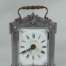 Relojes de carga manual: RELOJ DE MESA. LATÓN. GRAND PRIX DE L'HORLOGERIE 1878. FRANCIA.. Lote 121838999