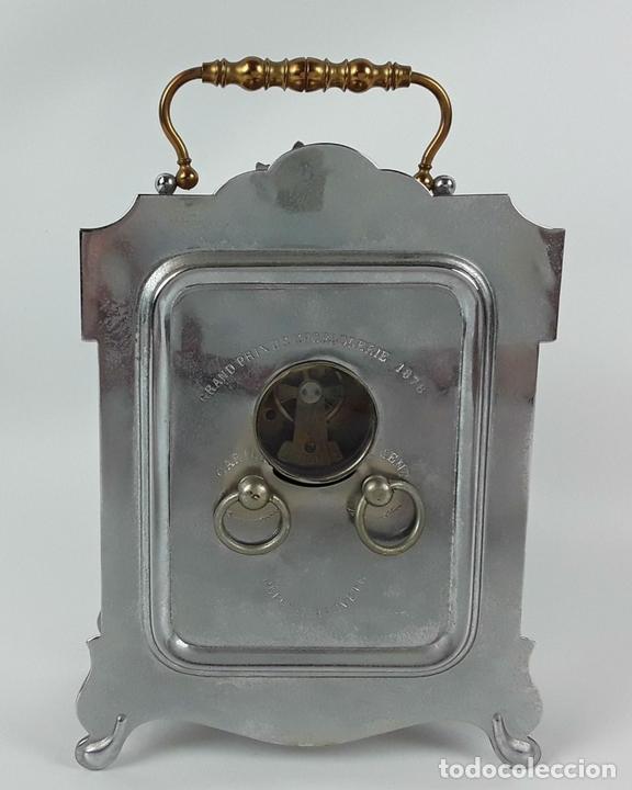 Relojes de carga manual: RELOJ DE MESA. LATÓN. GRAND PRIX DE LHORLOGERIE 1878. FRANCIA. - Foto 5 - 121838999