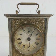Relojes de carga manual: RELOJ DESPERTADOR DE CARRUAJE. MAQUINARIA JUNGHANS. ALEMANIA. SIGLO XIX-XX. . Lote 123454227