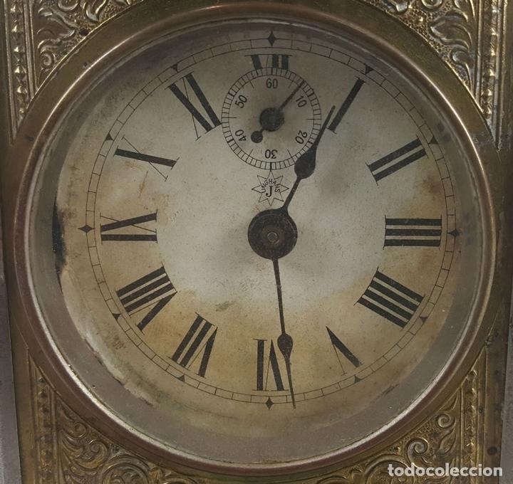 Relojes de carga manual: RELOJ DESPERTADOR DE CARRUAJE. MAQUINARIA JUNGHANS. ALEMANIA. SIGLO XIX-XX. - Foto 2 - 123454227