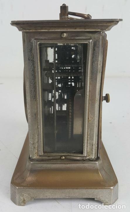 Relojes de carga manual: RELOJ DESPERTADOR DE CARRUAJE. MAQUINARIA JUNGHANS. ALEMANIA. SIGLO XIX-XX. - Foto 3 - 123454227