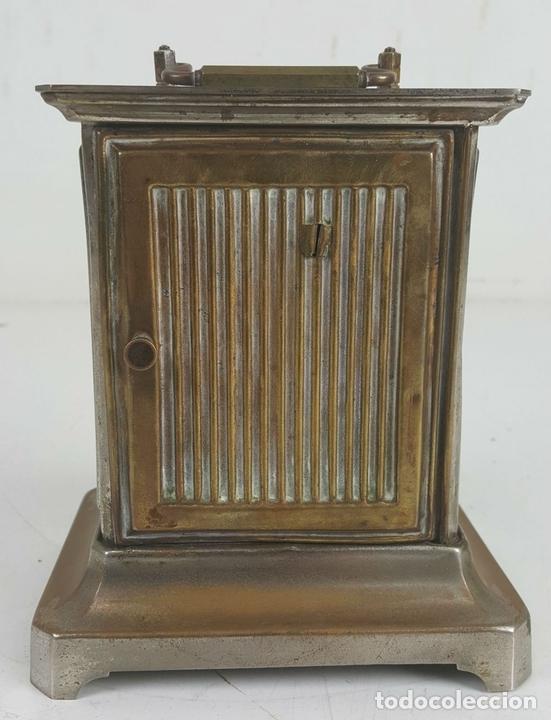 Relojes de carga manual: RELOJ DESPERTADOR DE CARRUAJE. MAQUINARIA JUNGHANS. ALEMANIA. SIGLO XIX-XX. - Foto 4 - 123454227