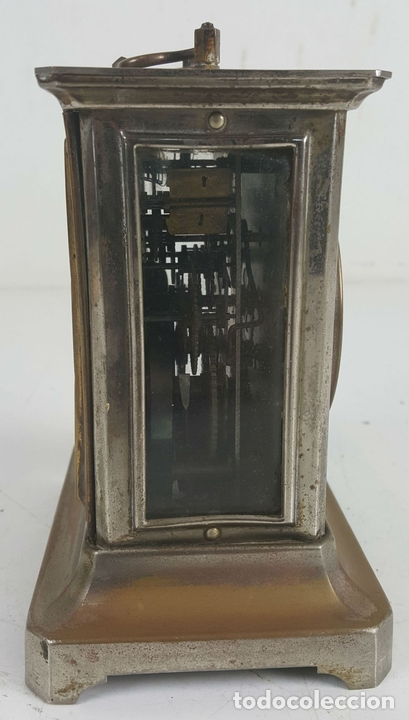 Relojes de carga manual: RELOJ DESPERTADOR DE CARRUAJE. MAQUINARIA JUNGHANS. ALEMANIA. SIGLO XIX-XX. - Foto 5 - 123454227