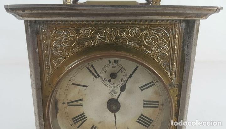 Relojes de carga manual: RELOJ DESPERTADOR DE CARRUAJE. MAQUINARIA JUNGHANS. ALEMANIA. SIGLO XIX-XX. - Foto 6 - 123454227