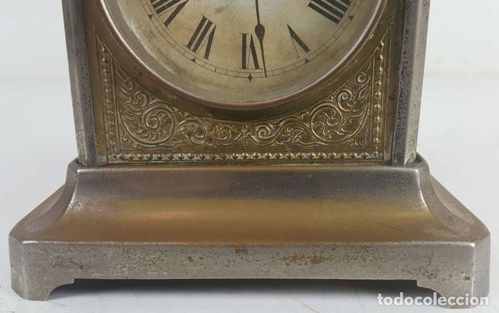 Relojes de carga manual: RELOJ DESPERTADOR DE CARRUAJE. MAQUINARIA JUNGHANS. ALEMANIA. SIGLO XIX-XX. - Foto 8 - 123454227