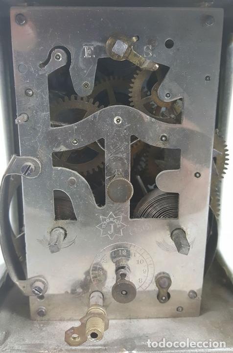 Relojes de carga manual: RELOJ DESPERTADOR DE CARRUAJE. MAQUINARIA JUNGHANS. ALEMANIA. SIGLO XIX-XX. - Foto 9 - 123454227