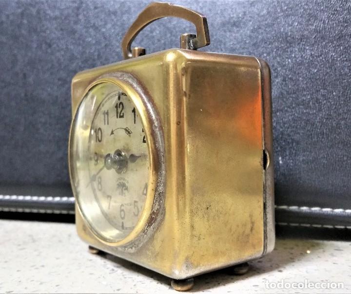 Relojes de carga manual: x2: LENZKIRCH AGU 1 MILLION ALARMA 1.890 GERMANI + CLÁSICO CAMPANAS LATÓN MECÁNICO CHECOSLOVAQUIA - Foto 3 - 104801079