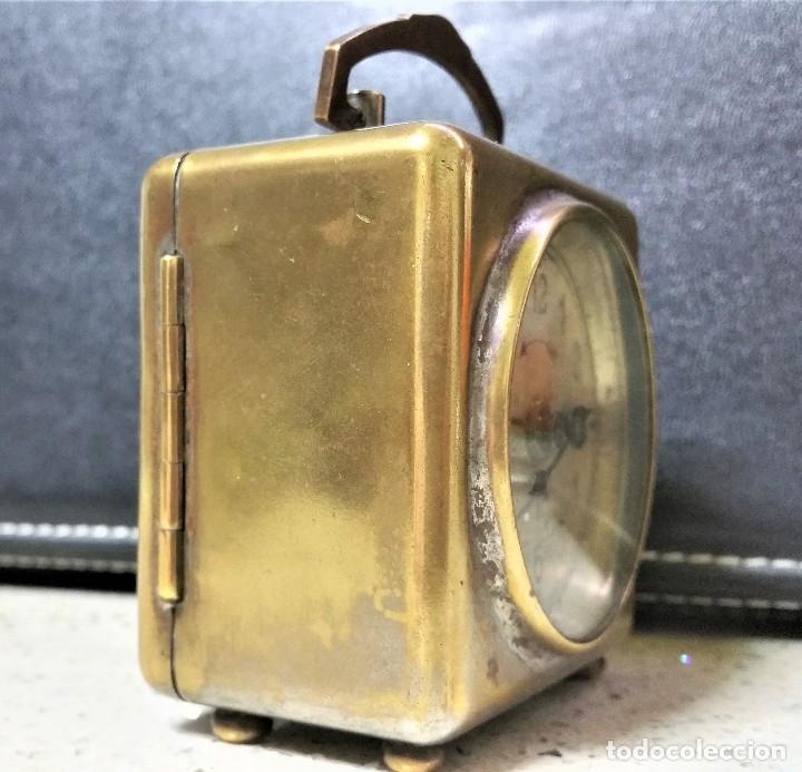 Relojes de carga manual: x2: LENZKIRCH AGU 1 MILLION ALARMA 1.890 GERMANI + CLÁSICO CAMPANAS LATÓN MECÁNICO CHECOSLOVAQUIA - Foto 4 - 104801079