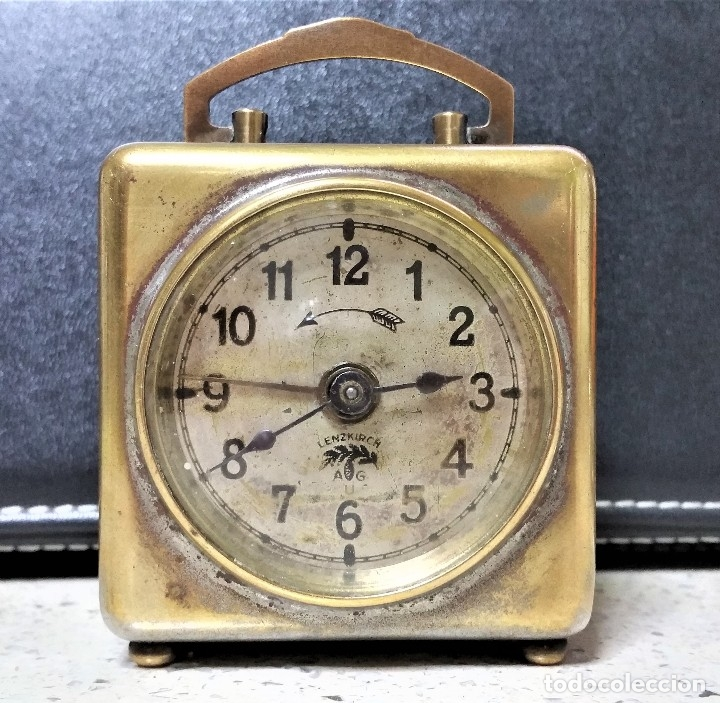 Relojes de carga manual: x2: LENZKIRCH AGU 1 MILLION ALARMA 1.890 GERMANI + CLÁSICO CAMPANAS LATÓN MECÁNICO CHECOSLOVAQUIA - Foto 5 - 104801079