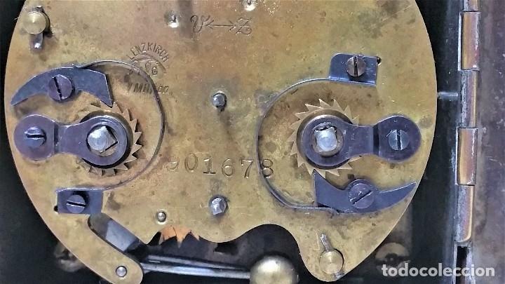 Relojes de carga manual: x2: LENZKIRCH AGU 1 MILLION ALARMA 1.890 GERMANI + CLÁSICO CAMPANAS LATÓN MECÁNICO CHECOSLOVAQUIA - Foto 6 - 104801079