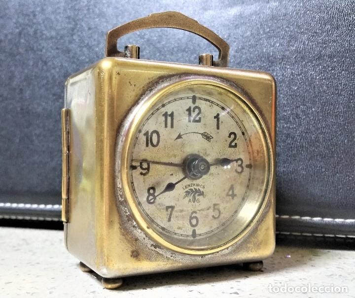 Relojes de carga manual: x2: LENZKIRCH AGU 1 MILLION ALARMA 1.890 GERMANI + CLÁSICO CAMPANAS LATÓN MECÁNICO CHECOSLOVAQUIA - Foto 7 - 104801079