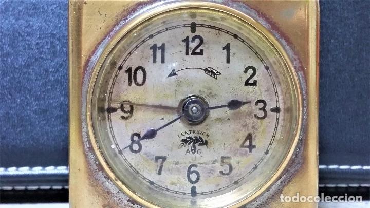 Relojes de carga manual: x2: LENZKIRCH AGU 1 MILLION ALARMA 1.890 GERMANI + CLÁSICO CAMPANAS LATÓN MECÁNICO CHECOSLOVAQUIA - Foto 8 - 104801079