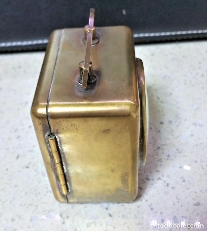 Relojes de carga manual: x2: LENZKIRCH AGU 1 MILLION ALARMA 1.890 GERMANI + CLÁSICO CAMPANAS LATÓN MECÁNICO CHECOSLOVAQUIA - Foto 11 - 104801079