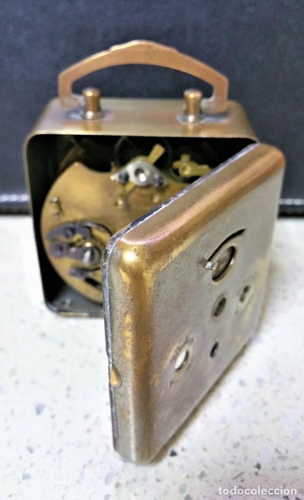 Relojes de carga manual: x2: LENZKIRCH AGU 1 MILLION ALARMA 1.890 GERMANI + CLÁSICO CAMPANAS LATÓN MECÁNICO CHECOSLOVAQUIA - Foto 12 - 104801079