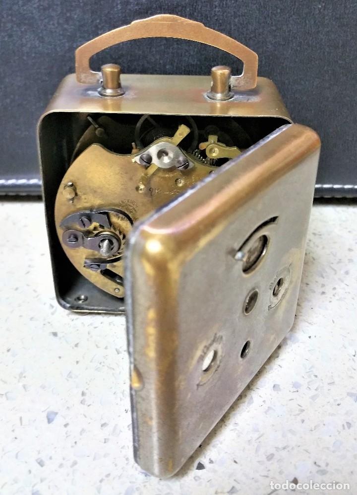 Relojes de carga manual: x2: LENZKIRCH AGU 1 MILLION ALARMA 1.890 GERMANI + CLÁSICO CAMPANAS LATÓN MECÁNICO CHECOSLOVAQUIA - Foto 13 - 104801079
