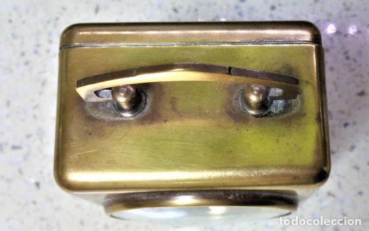 Relojes de carga manual: x2: LENZKIRCH AGU 1 MILLION ALARMA 1.890 GERMANI + CLÁSICO CAMPANAS LATÓN MECÁNICO CHECOSLOVAQUIA - Foto 21 - 104801079