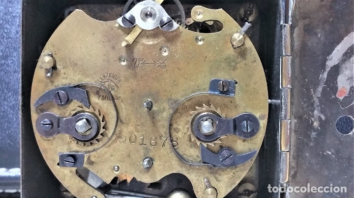 Relojes de carga manual: x2: LENZKIRCH AGU 1 MILLION ALARMA 1.890 GERMANI + CLÁSICO CAMPANAS LATÓN MECÁNICO CHECOSLOVAQUIA - Foto 22 - 104801079