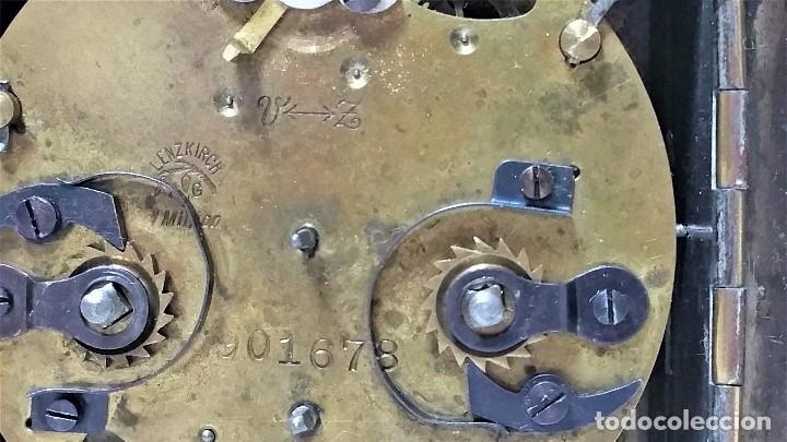 Relojes de carga manual: x2: LENZKIRCH AGU 1 MILLION ALARMA 1.890 GERMANI + CLÁSICO CAMPANAS LATÓN MECÁNICO CHECOSLOVAQUIA - Foto 23 - 104801079
