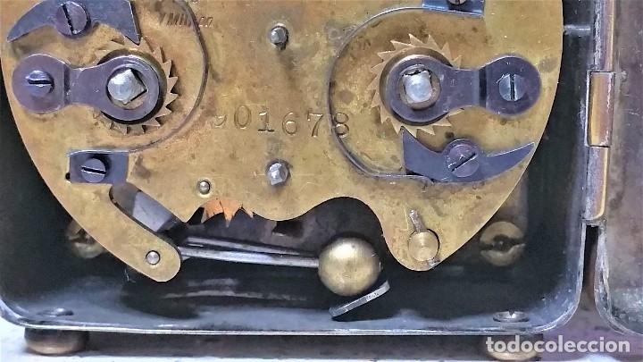 Relojes de carga manual: x2: LENZKIRCH AGU 1 MILLION ALARMA 1.890 GERMANI + CLÁSICO CAMPANAS LATÓN MECÁNICO CHECOSLOVAQUIA - Foto 25 - 104801079