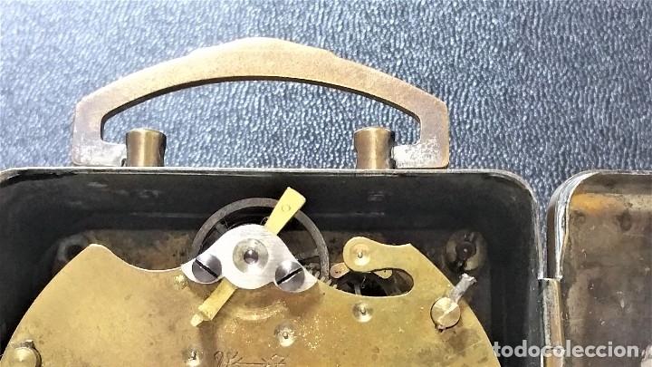 Relojes de carga manual: x2: LENZKIRCH AGU 1 MILLION ALARMA 1.890 GERMANI + CLÁSICO CAMPANAS LATÓN MECÁNICO CHECOSLOVAQUIA - Foto 28 - 104801079