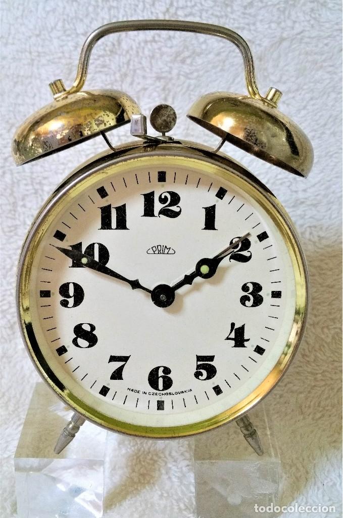Relojes de carga manual: x2: LENZKIRCH AGU 1 MILLION ALARMA 1.890 GERMANI + CLÁSICO CAMPANAS LATÓN MECÁNICO CHECOSLOVAQUIA - Foto 29 - 104801079