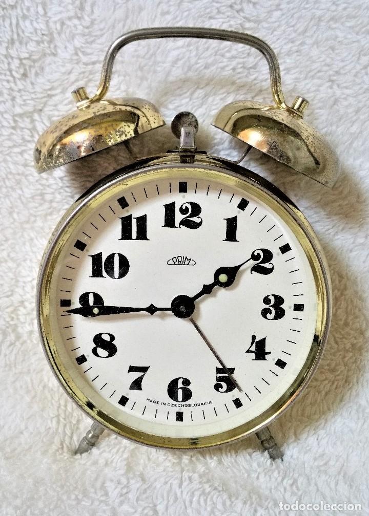 Relojes de carga manual: x2: LENZKIRCH AGU 1 MILLION ALARMA 1.890 GERMANI + CLÁSICO CAMPANAS LATÓN MECÁNICO CHECOSLOVAQUIA - Foto 30 - 104801079