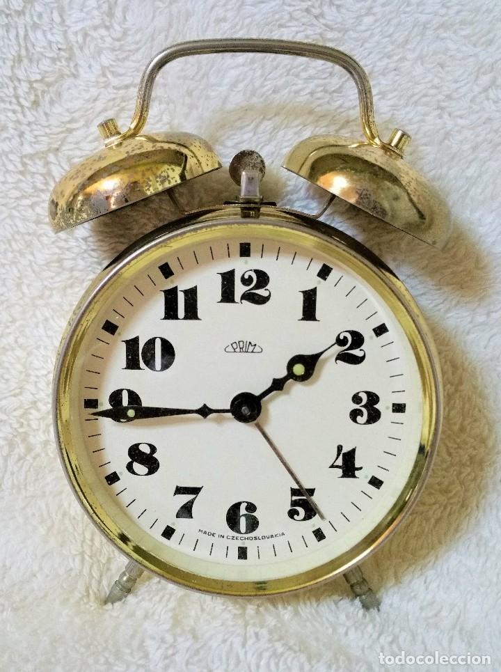 Relojes de carga manual: x2: LENZKIRCH AGU 1 MILLION ALARMA 1.890 GERMANI + CLÁSICO CAMPANAS LATÓN MECÁNICO CHECOSLOVAQUIA - Foto 31 - 104801079