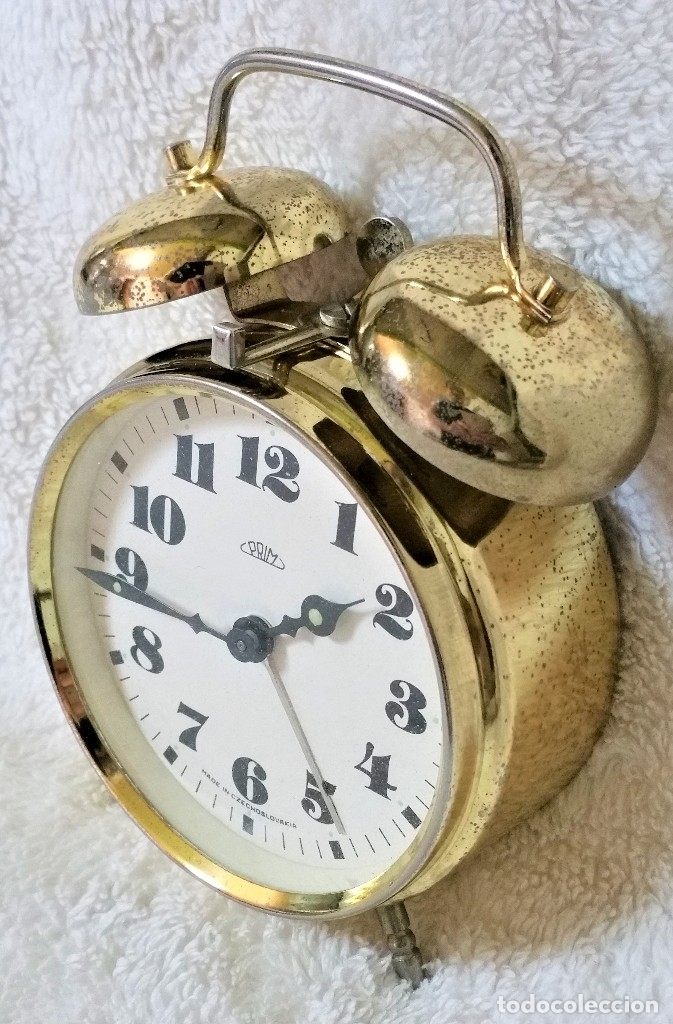 Relojes de carga manual: x2: LENZKIRCH AGU 1 MILLION ALARMA 1.890 GERMANI + CLÁSICO CAMPANAS LATÓN MECÁNICO CHECOSLOVAQUIA - Foto 33 - 104801079