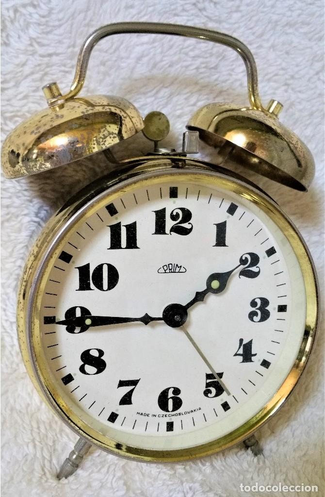 Relojes de carga manual: x2: LENZKIRCH AGU 1 MILLION ALARMA 1.890 GERMANI + CLÁSICO CAMPANAS LATÓN MECÁNICO CHECOSLOVAQUIA - Foto 34 - 104801079
