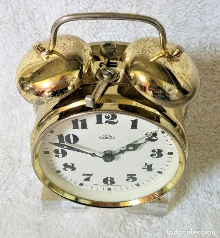 Relojes de carga manual: x2: LENZKIRCH AGU 1 MILLION ALARMA 1.890 GERMANI + CLÁSICO CAMPANAS LATÓN MECÁNICO CHECOSLOVAQUIA - Foto 35 - 104801079