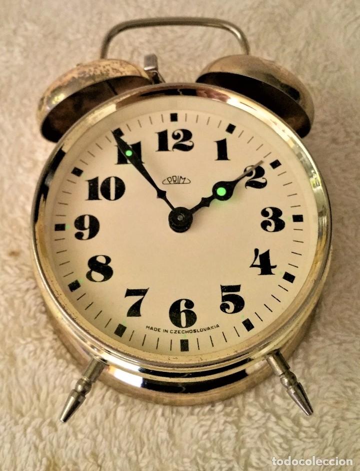 Relojes de carga manual: x2: LENZKIRCH AGU 1 MILLION ALARMA 1.890 GERMANI + CLÁSICO CAMPANAS LATÓN MECÁNICO CHECOSLOVAQUIA - Foto 36 - 104801079