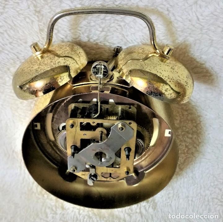 Relojes de carga manual: x2: LENZKIRCH AGU 1 MILLION ALARMA 1.890 GERMANI + CLÁSICO CAMPANAS LATÓN MECÁNICO CHECOSLOVAQUIA - Foto 37 - 104801079