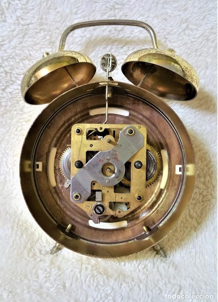 Relojes de carga manual: x2: LENZKIRCH AGU 1 MILLION ALARMA 1.890 GERMANI + CLÁSICO CAMPANAS LATÓN MECÁNICO CHECOSLOVAQUIA - Foto 38 - 104801079