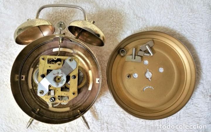 Relojes de carga manual: x2: LENZKIRCH AGU 1 MILLION ALARMA 1.890 GERMANI + CLÁSICO CAMPANAS LATÓN MECÁNICO CHECOSLOVAQUIA - Foto 41 - 104801079