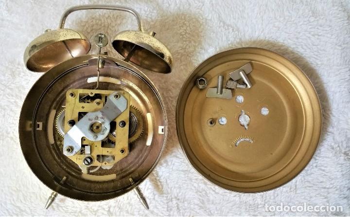 Relojes de carga manual: x2: LENZKIRCH AGU 1 MILLION ALARMA 1.890 GERMANI + CLÁSICO CAMPANAS LATÓN MECÁNICO CHECOSLOVAQUIA - Foto 42 - 104801079
