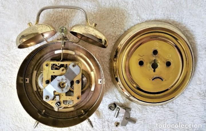 Relojes de carga manual: x2: LENZKIRCH AGU 1 MILLION ALARMA 1.890 GERMANI + CLÁSICO CAMPANAS LATÓN MECÁNICO CHECOSLOVAQUIA - Foto 43 - 104801079