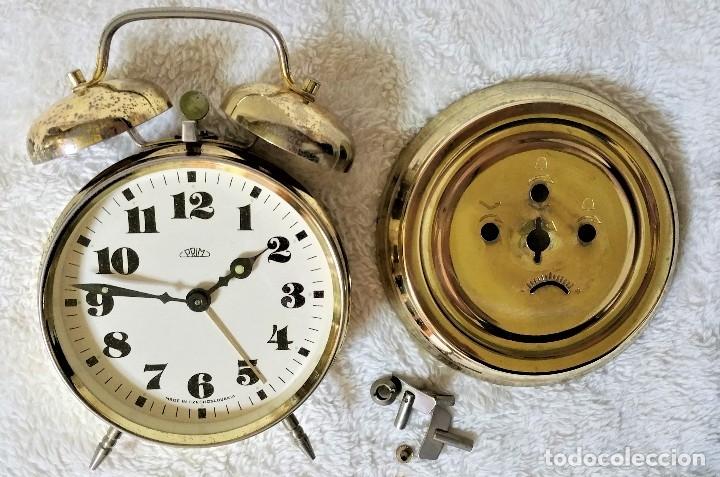 Relojes de carga manual: x2: LENZKIRCH AGU 1 MILLION ALARMA 1.890 GERMANI + CLÁSICO CAMPANAS LATÓN MECÁNICO CHECOSLOVAQUIA - Foto 44 - 104801079