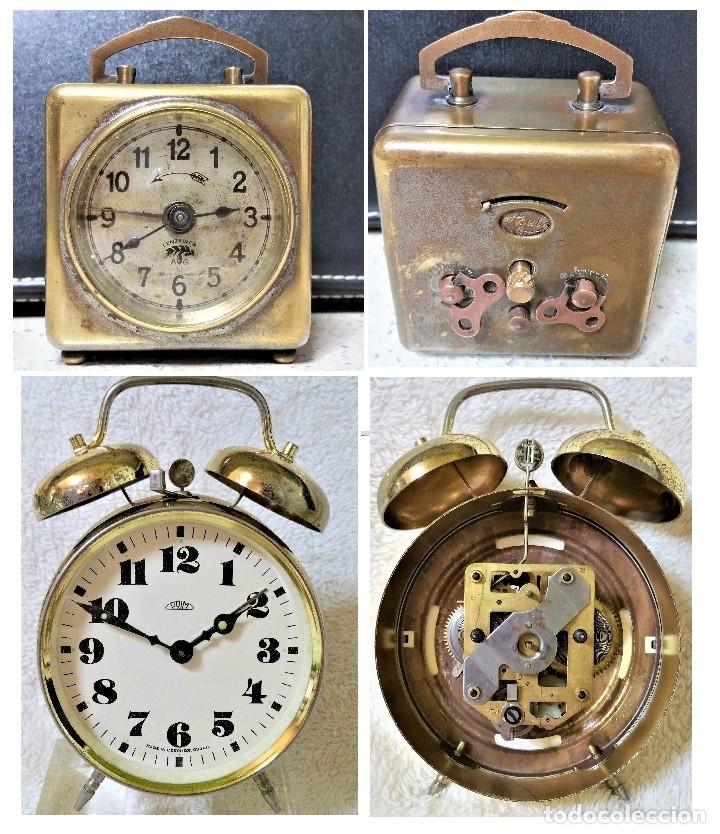 X2: LENZKIRCH AGU 1 MILLION ALARMA 1.890 GERMANI + CLÁSICO CAMPANAS LATÓN MECÁNICO CHECOSLOVAQUIA (Relojes - Sobremesa Carga Manual)